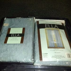 ella Accents - Ella Tie Top Crushed Voile Curtain Panel 51 X 84